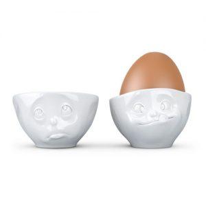 Äggkoppar med ansikte