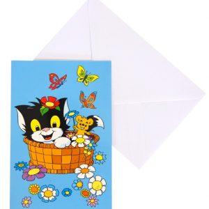 Bamse Gratulationskort (Katten Jansson och Husmusen)