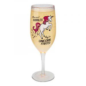 Champagneglas Unicorn Farts
