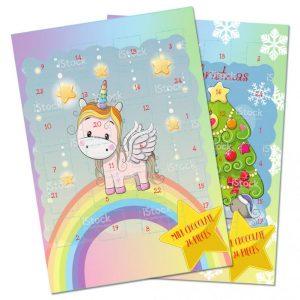 Choklad Adventskalender Unicorn 75g