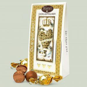 Chokladpraliner - Du är guld värd (120 g), Guld