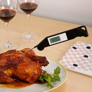 Digital kökstermometer - BBQ Termometer, Svart
