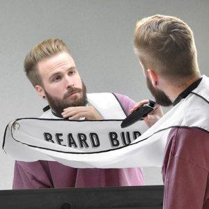 Förkläde för rakning - Beard Buddy, Vit