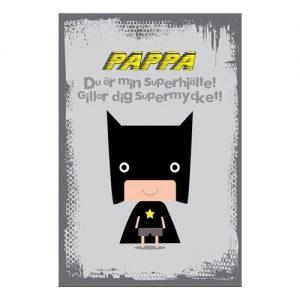 Fars Dag Kort Min Superhjälte