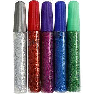 Glitterlim 5 st (Mixade färger)