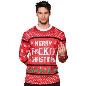 Jultröja Merry F*ckin' Christmas (Medium)