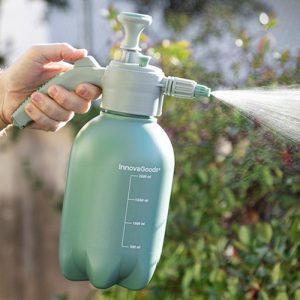 Sprayflaska med tryckpump, Grön