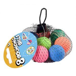 Studsbollar i Nät - 8-pack