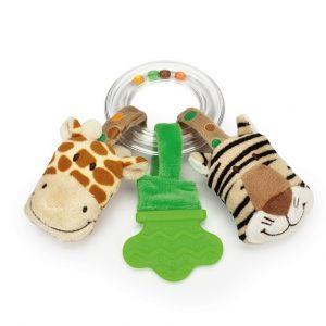 Teddykompaniet Diinglisar Ringskallra Giraff och Tiger