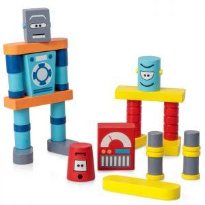 Träbyggklossar Robot